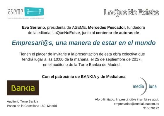 """Presentación de nuestro libro """"Empresari@s, una manera de estar en el mundo"""""""