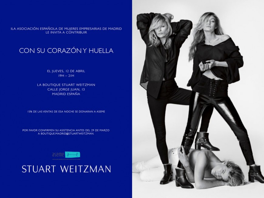 ASEME te invita a La Boutique Stuart Weitzman el próximo 12 de Abril