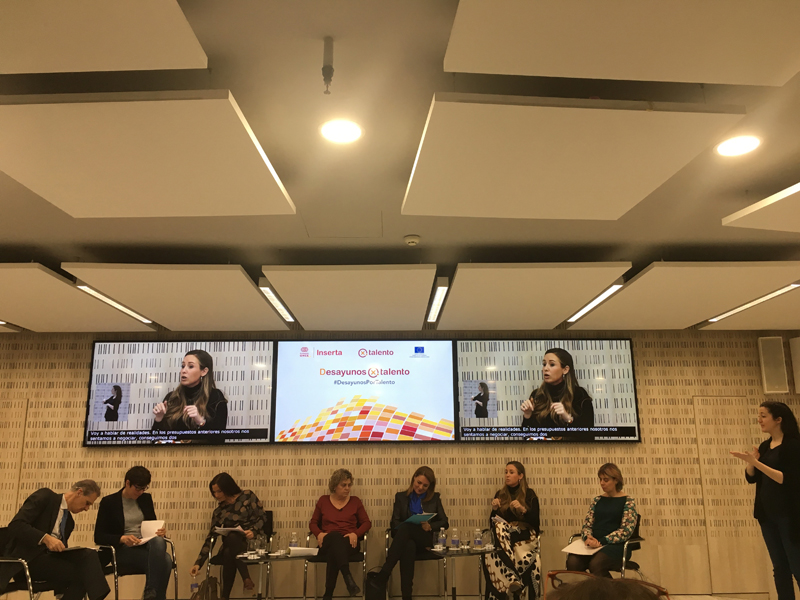 Isabel Carrascal y Margarita Jerez asisten en representación de ASEME a este DESAYUNO POR TALENTO