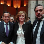 Juan Pablo Lázaro, presidente de CEIM, Eva Serrano, presidenta de ASEME y Ángel Asensio, presidente de Cámara de Comercio de Madrid