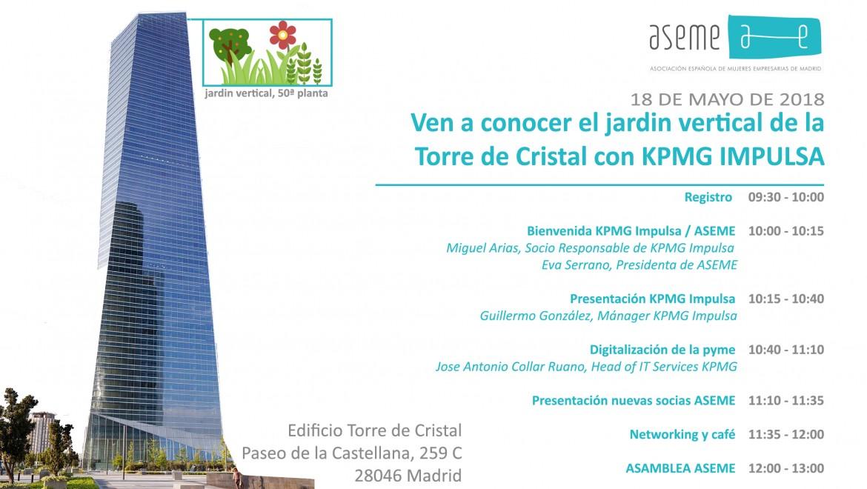 Ven a conocer el jardin vertical de la Torre de Cristal con KPMG IMPULSA