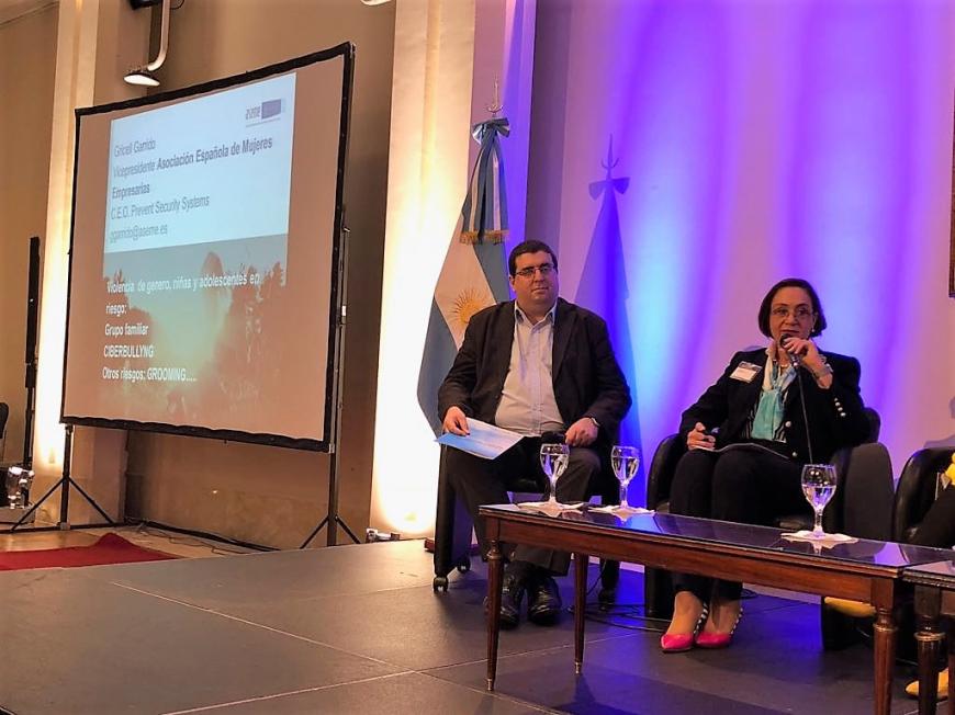 Gricell Garrido, vicepresidenta de ASEME, participó en el II Foro Iberoamericano sobre Género y Ciberseguridad en Argentina