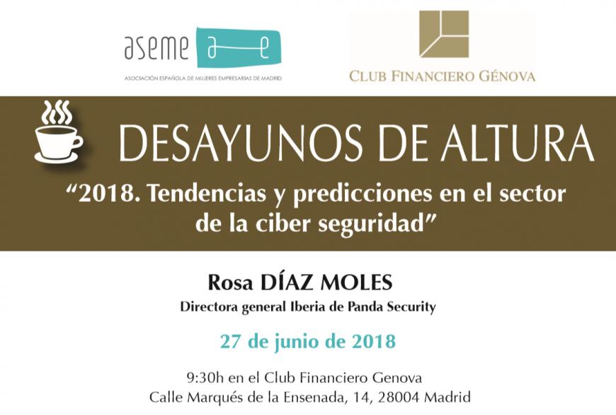 Desayuno de Altura con Rosa Díaz Moles, experta en TIC empresarial