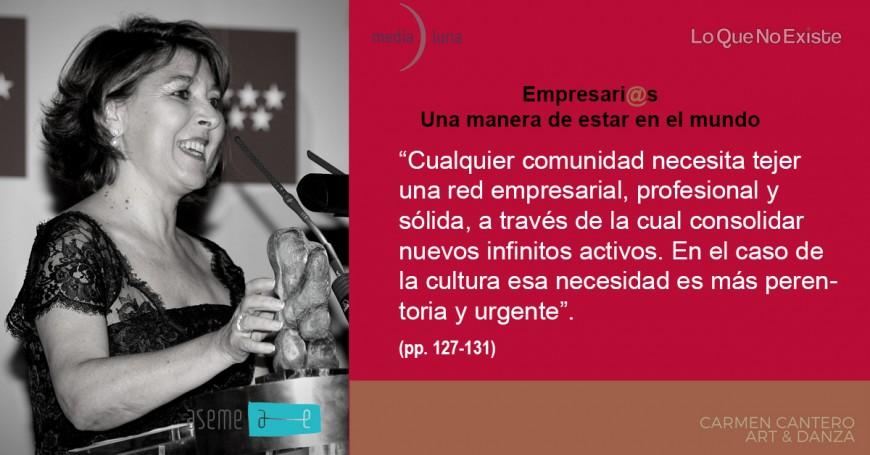 """Reseñas de nuestro libro: """"Empresari@s, una manera de estar en el mundo"""" con Carmen Cantero de Art&Danza"""