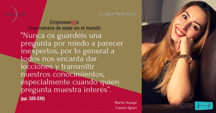 Reseñas de Empresari@s, una manera de estar en el mundo con Marta Araujo de Caviró Sport