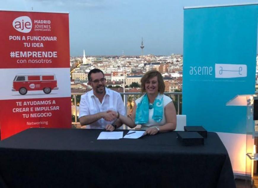 ASEME se hermana con la Asociación de Jóvenes Empresarios de Madrid (AJE)