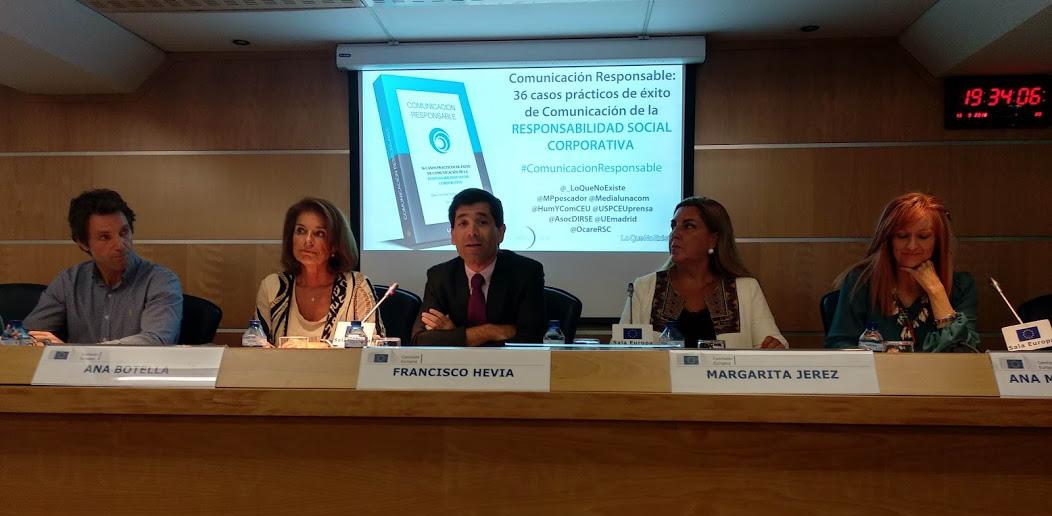 """ASEME participa en la presentación del libro """"Comunicación Responsable"""" de la editorial LoQueNoExiste en la sede de la Comisión Europea"""